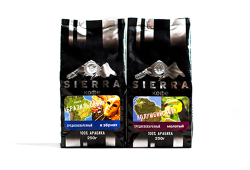 Sierra Coffee Bags & Labels