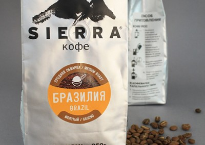 Sierra Coffee pack re-design